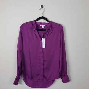 SOLD - NWT Purple Button Down Blouse